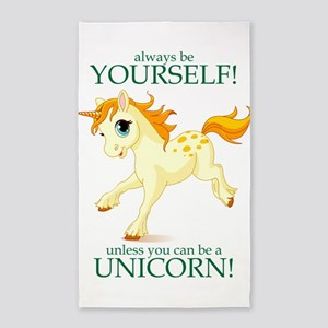 Always be A Unicorn! 3'x5' Area Rug