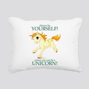 Always be A Unicorn! Rectangular Canvas Pillow