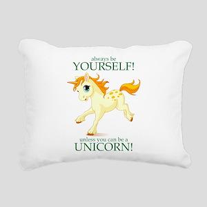 Always be A Unicorn! Rectangular Canvas Pillow
