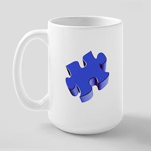 Puzzle Piece 2.1 Blue Large Mug