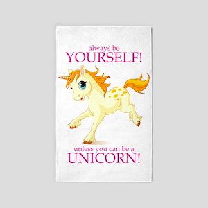 Always be A Unicorn! 3'x5' Area Rug