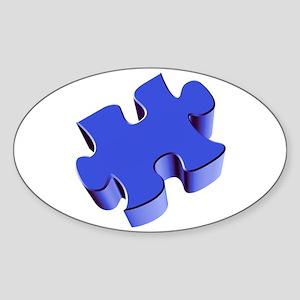 Puzzle Piece 2.1 Blue Sticker (Oval)