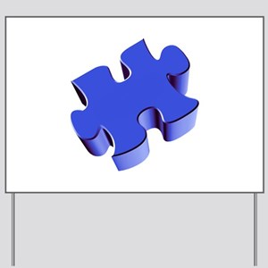 Puzzle Piece 2.1 Blue Yard Sign