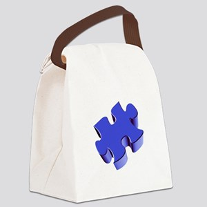 Puzzle Piece 2.1 Blue Canvas Lunch Bag
