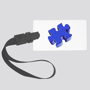 Puzzle Piece 2.1 Blue Large Luggage Tag