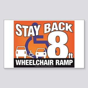 Stay Back Wheelchair Ramp (8ft) Sticker