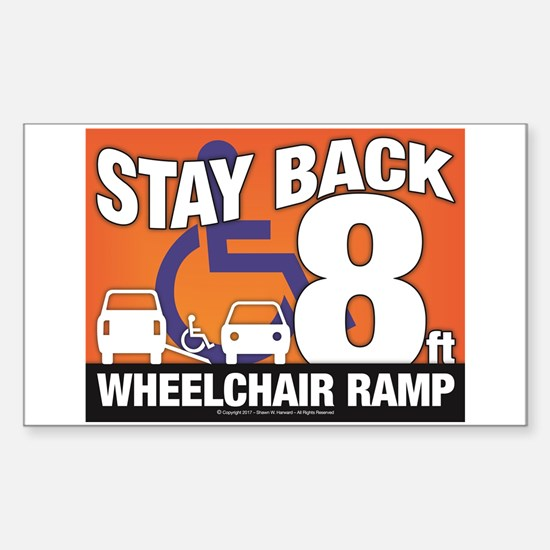 Stay Back Wheelchair Ramp (8ft) Decal