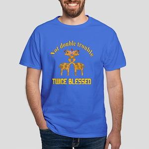 Twin Giraffes Dark T-Shirt
