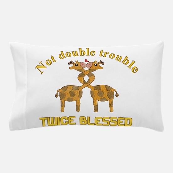 Twin Giraffes Pillow Case