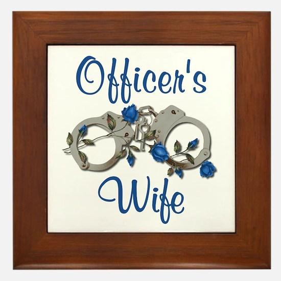 Officer's Wife Framed Tile