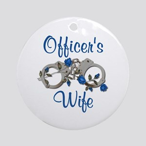 Officer's Wife Ornament (Round)