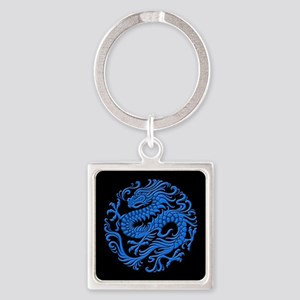 Traditional Blue and Black Chinese Dragon Circle K