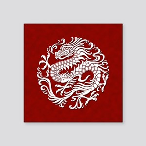 Traditional White and Red Chinese Dragon Circle St