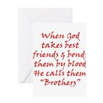 God Made Brothers Greeting Card