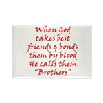 God Made Brothers Rectangle Magnet