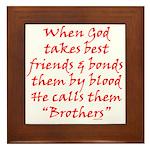 God Made Brothers Framed Tile