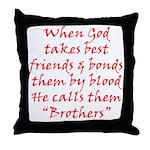 God Made Brothers Throw Pillow