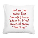 God Made Brothers Square Canvas Pillow