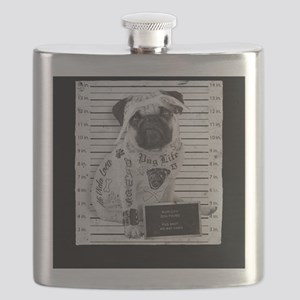 "Pug Life Mug Shot ""All Eyez On Me"" Flask"