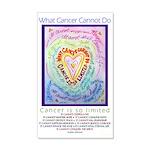Rainbow Heart Cancer 35x21 Wall Decal