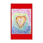 Rainbow Heart Cancer 20x12 Wall Decal