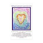 Rainbow Heart Cancer Sticker (Rectangle 50 pk)