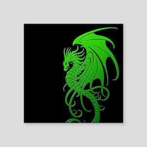 Flying Tribal Green Dragon Sticker
