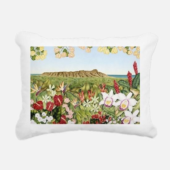 Diamond Head Rectangular Canvas Pillow