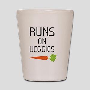 runs on veggies Shot Glass