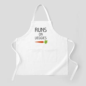 runs on veggies Apron