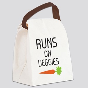 runs on veggies Canvas Lunch Bag
