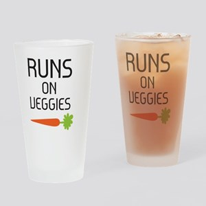 runs on veggies Drinking Glass
