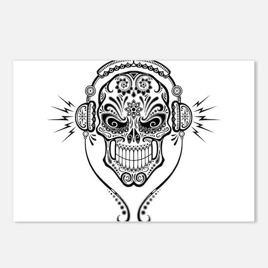 DJ Sugar Skull Postcards (Package of 8)