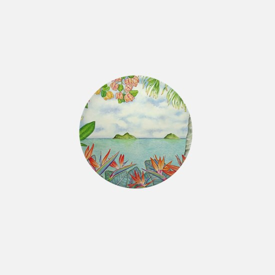 Hawaiian Mokuluas Mini Button