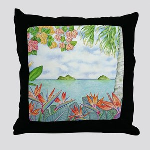 Hawaiian Mokuluas Throw Pillow