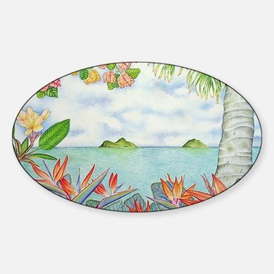 Hawaiian Mokuluas Sticker (Oval)