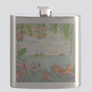 Hawaiian Mokuluas Flask