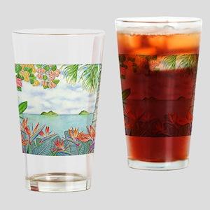 Hawaiian Mokuluas Drinking Glass