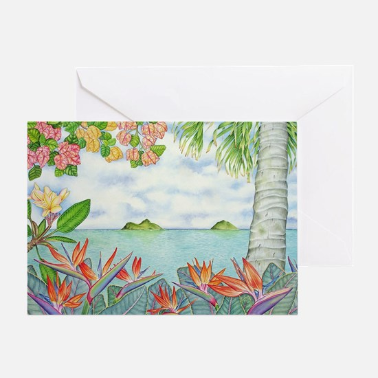 Hawaiian Mokuluas Greeting Card
