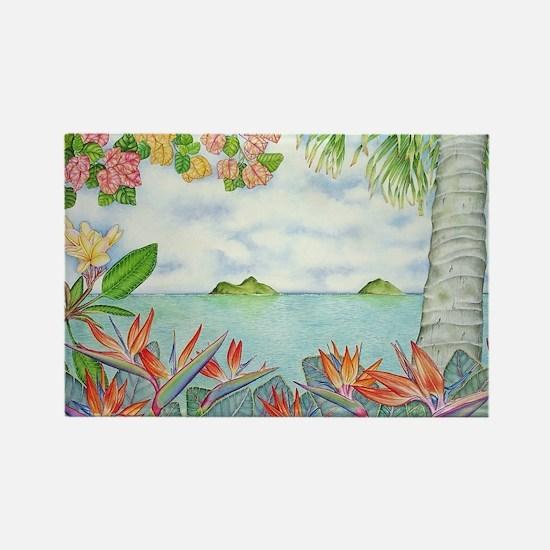 Hawaiian Mokuluas Rectangle Magnet