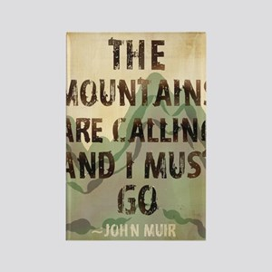 John Muir Mountains Rectangle Magnet