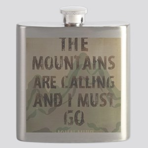 John Muir Mountains Flask