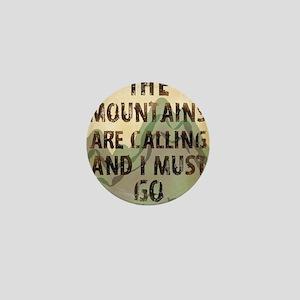 John Muir Mountains Mini Button
