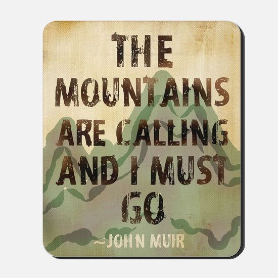 John Muir Mountains Mousepad