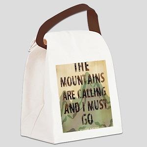 John Muir Mountains Canvas Lunch Bag