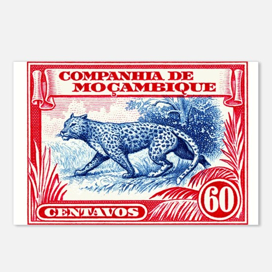 1937 Mozambique Company Leopard Postage Stamp Post