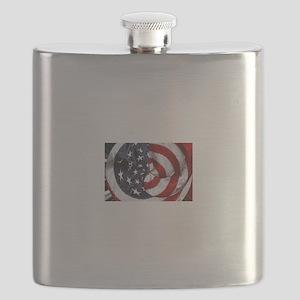 Swirling Flag Flask