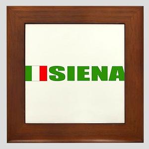 Siena, Italy Framed Tile