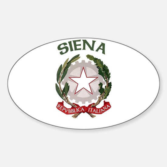Siena, Italy Oval Decal