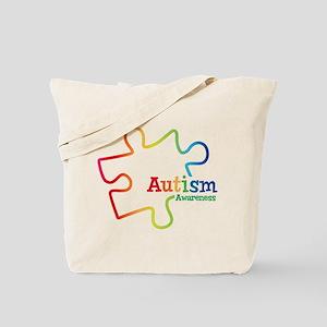 Rainbow Gradient Autism Tote Bag